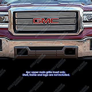 APS Compatible with 2014-2015 GMC Sierra 1500 Upper Billet Grille Grill Inserts G65972A