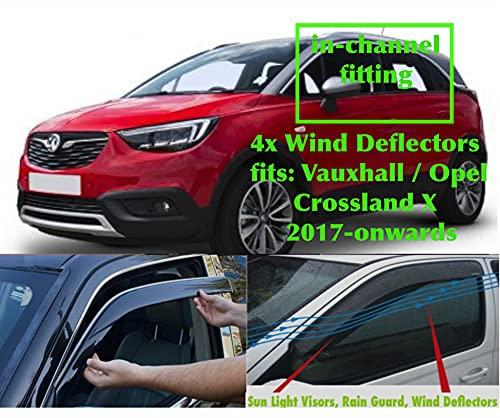 Juego de 4 deflectores de viento fabricados para Peugeot 5008 (T87) 2017 2018 2019 2020 2021 2022 puerta lateral ventana lluvia protector parasol acrílico PMMA