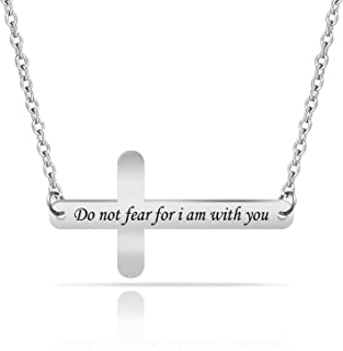 Christian Necklacedo Not Fear for I Am With You Adult Scripture Jewelry Isaiah 41:10 Religious Gift
