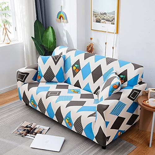 ASCV Fundas de sofá geométricas para Sala de Estar Funda de sofá elástica Funda de sofá Funda elástica para Muebles Fundas para sillón A7 1 Plaza