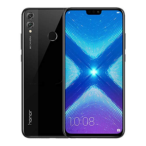 HONOR 8X Smartphone (16, 5 cm (6, 5 Zoll) Display, 128 GB interner Speicher, Android 8.1) Schwarz, 51092XXP