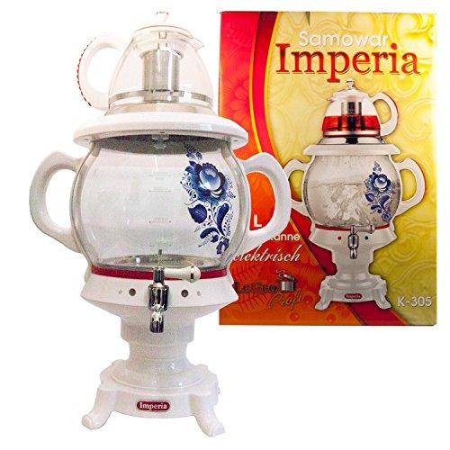 """Samowar \""""Imperia\"""" weiß 4 L,mit Teekanne,elektrisch / Самовар \""""Империя\"""" электр"""