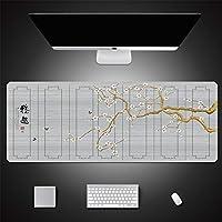 LL-COEUR 大型マウスパッド キーボード ゲーミング オフィス テーブルマット が良い 滑り止めゴム底 手描き シンプル 優雅 芸術(900 x 400 x 5 mm,10)