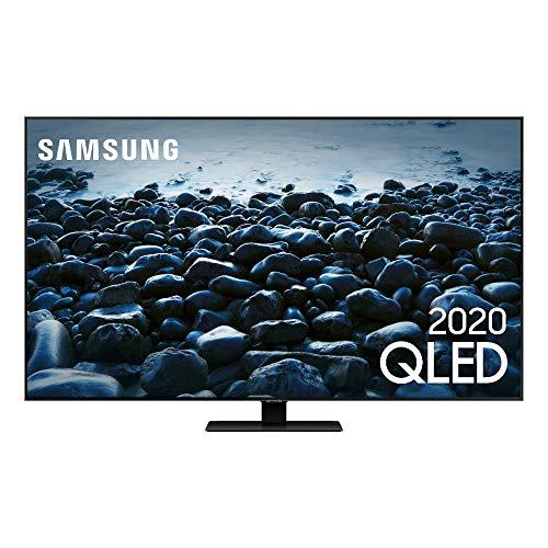 Smart TV QLED 55' 4K Samsung QN55Q80TAGXZD, Pontos Quânticos, Modo Game, Som em Movimento, Alexa Built in, Borda Infinita, Modo Ambiente 3.0, Controle Único