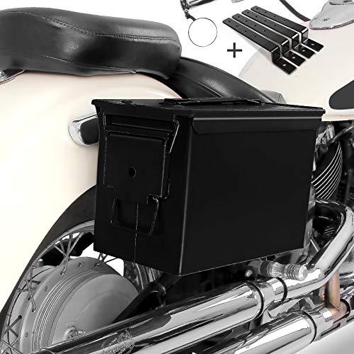 Seitenkoffer Set Army PA108 für Kawasaki VN 800/ Classic schwarz