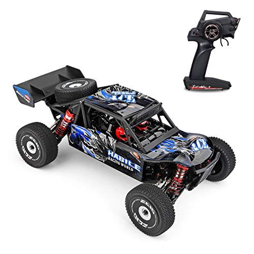 yanzz Coche de Carreras de Alta Velocidad 60 km/h 1/12 2,4 GHz Apagado, Coche a Control Remoto - Carretera Drift Car RTR 4WD Chasis de aleación de Aluminio Engranaje de aleación de Zinc