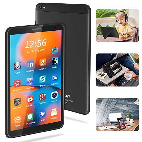 Tablet 8 Pollici Android 10.0 Google Certificazione GMS Tablet PC, 3GB RAM+32 128GB ROM,Tablet per Bambini con Fotocamera da 5MP, Tablet Offerte Supporta FM e Wi-Fi (nero)