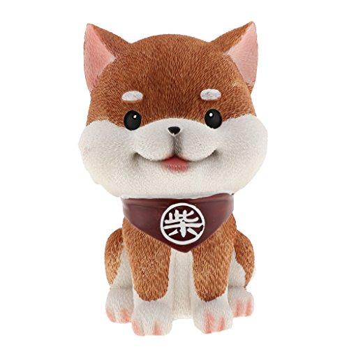 LOVIVER Dekorative Hund Münze Bank Geld Sparen Box Sparschweine Gelddose, Aus Harz - 16 cm