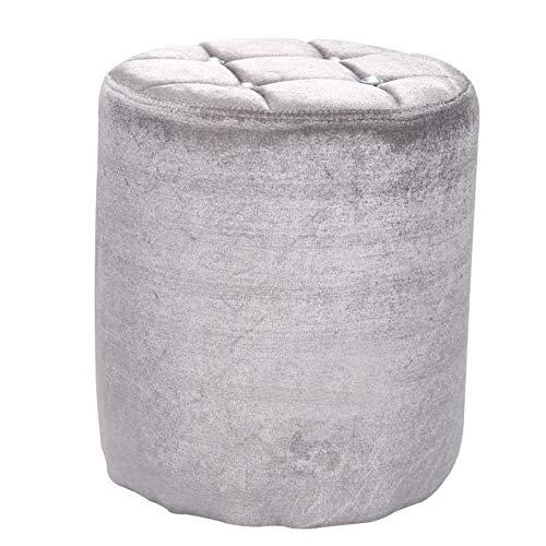 Trintion Dressing Table Stool 37CM Round Velvet Chair For Bedroom Living Room Ice Velvet