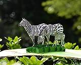 CUTPOPUP Birthday Pop Up Zebra Card for for Children, Son, Nephew, Kids,Teenager- A Remarkable Card with Artistic Design- Wonderful Birthday Gift For Zebra Lovers- Includes elegant envelope