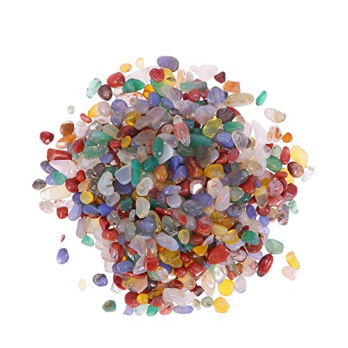 Vosarea 500g ágata arcoíris natural troceado chips piedra curativa cristal piezas de cuarzo relleno de florero 5-7mm