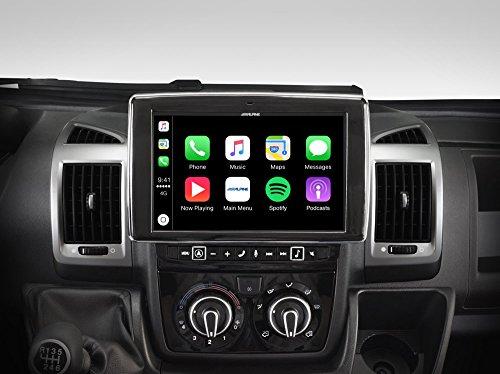 Alpine X902D-DU Touchscreen Navigator, festinstalliert, 9 Zoll LCD Scwarz –Navi (Ost- und Westeuropa) 22.9cm (9 Zoll), 800x 480Pixel, LCD, AVI, H.264, MKV, MP4