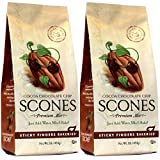 Sticky Fingers Bakeries, English Scone Mix, Cocoa Chocolate Chip, Just Add Water, Mix, and Bake. Makes 12 Scones (Pack of 2)