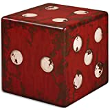 "Uttermost Dice Accent Table, Red, 18.75"","