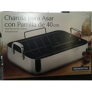Tramontina 16-Inch Heavy Guaged Polished Aluminum Roasting Pan with Removable Rack