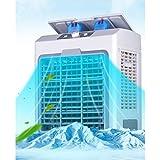 WANG XIN unità Portatile di condizionamento 5000 BTU, Kit di Ventilazione per finestre, Ingresso Acqua, 4 Ruote girevoli, Bianco