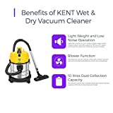 KENT Wet and Dry Vacuum Cleaner 1200-Watt (Metallic Silver)