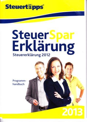 Preisvergleich Produktbild Steuer-Spar-Erklärung 2013 (für Steuerjahr 2012)