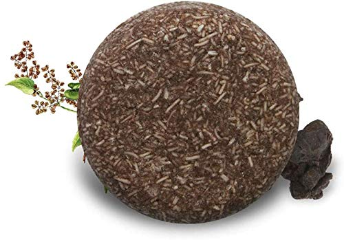 Acondicionador en barra de champú Polygonum Multiflorum orgánico natural, ayuda a disminuir la caída del cabello y promueve elcrecimiento saludable del cabello, esencia de reparación para cabello seco