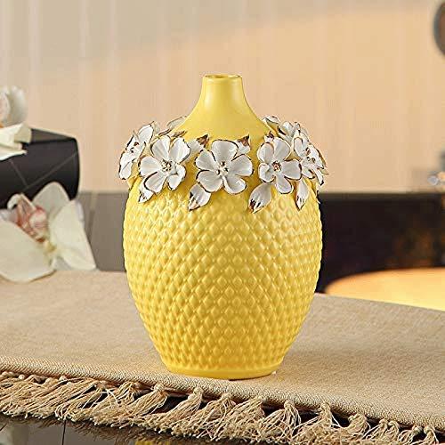 Zixin Europäische Keramik-Vase Dekoration TV-Möbel Wohnzimmer Keramik Bodenvase Blumenarrangements Handwerk Dekorationen (Größe: 21cm * 15cm) (Size : 21cm*15cm)