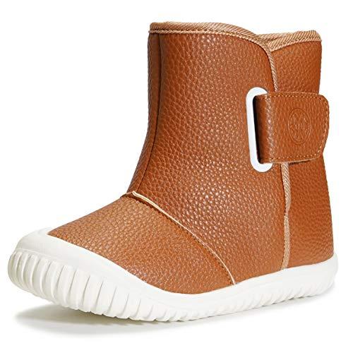 Gaatpot Bébé Bottines Chaussures d'hiver Garçon Fille Bottes de Neige Premiers Pas Chaud Enfant Bottines Chaussures NK-Marron 25/25.5EU=25CN