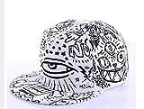 XZZZB Baseball Cap Graffiti Baseball Caps Schwarz und Weiß Patchwork Männer Frauen Hip Hop Cap Casual Hut Weiß Casual Laufen Baseball Caps