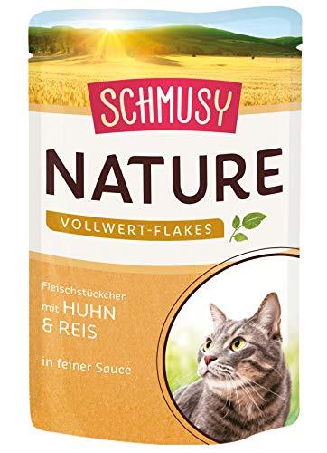 Schmusy Nature Vollwert-Flakes Huhn & Reis, 22er Pack (22 x 100 g)