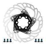 Disco Freno per Bicicletta da Mountain Bike Rotori di Raffreddamento Flottanti 5 Perni 140Mm Accessorio per Ciclismo ( Nero )