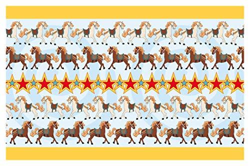 "I-love-Wandtattoo b-02-014 Kinderzimmer Bordüre ""Pferde"" Pony Reiten Kinderdeko"