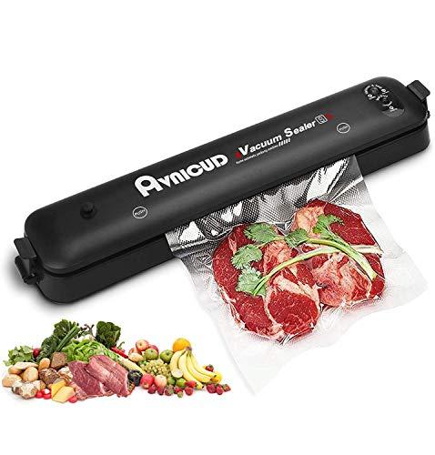 AVNICUD Vakuumiergerät, Automatischer Vakuumierer, Folienschweißgerät für Lebensmittel Fleisch Bleiben Gemüse bis zu 8x Länger Frisch, mit 15 Vakuumierbeutel