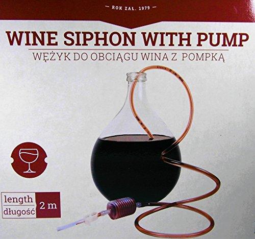 Travasatore con pompa di aspirazione + Rubinetto strozzatubo - Travaso vino e birra - Sifone per vino