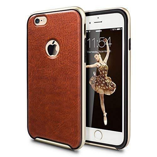 IVAPO Custodia Protettiva per iPhone 6S Plus (5.5' Schermo) Pelle (PU) Stile Marrone
