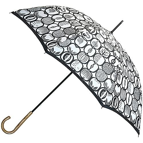 【Stig L】先染め高級傘 60cm 晴雨兼用長傘 FRUKTLADAフルクトラーダ ホワイト/北欧デザイナー/レディース/日傘/雨傘/槇田商店