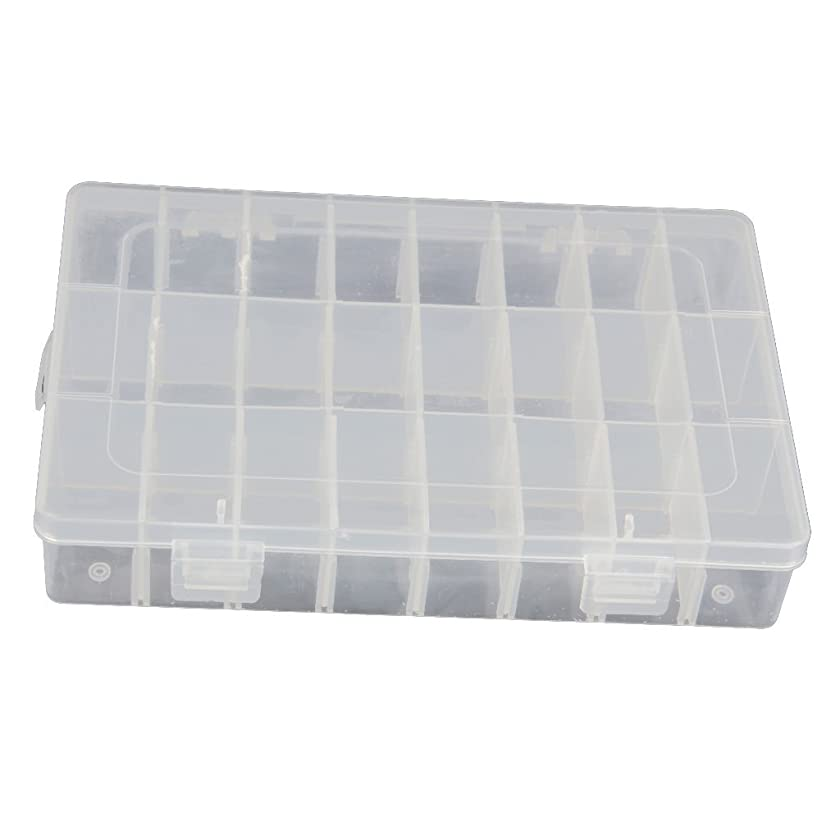 15/24/36 Grid Clear Adjustable Jewelry Bead Organizer Box Storage Container Case