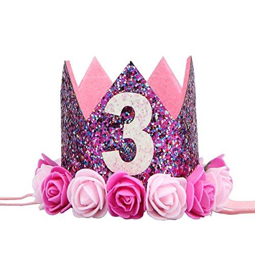 LUOEM Baby Princess Tiara Crown Kids 3º Sombrero