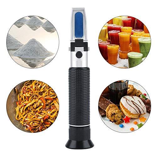 Zyyini Refractometer, 3-in-1 design handmatige suikerzoutgehaltestester, duurzame aluminium linometer voor het testen van het suikergehalte van bier, vruchtensap en zoutgehalte
