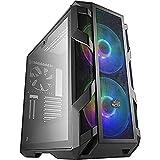 Cooler Master MasterCase H500M ARGB - Caja PC con Dos Ventiladores 200 mm para Potente Flujo de Aire, 4 Paneles Cristal Templado, Soporte Avanzado, ATX