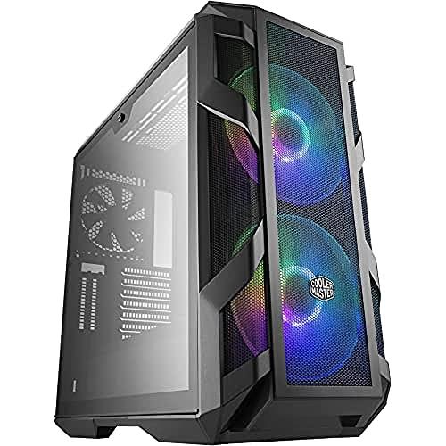 Cooler Master MasterCase H500M ARGB - Case per PC con Due Ventole da 200 mm Ottimo Flusso d'Aria, 4 Pannelli in Vetro Temperato, Supporto Avanzato