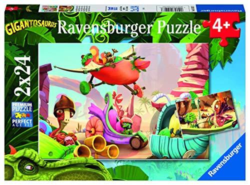 Ravensburger 05126 Pz Puzzle Gigantosaurous, 2 x 24 Teile, Piezas