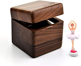 Musical Accessories Wooden Music Box, Creative Ballet Rotating Dancer Creative Decoration Music Box Birthday Valentine's Day Gift Music Boxes (Color : A, Size : Merry Christmas)