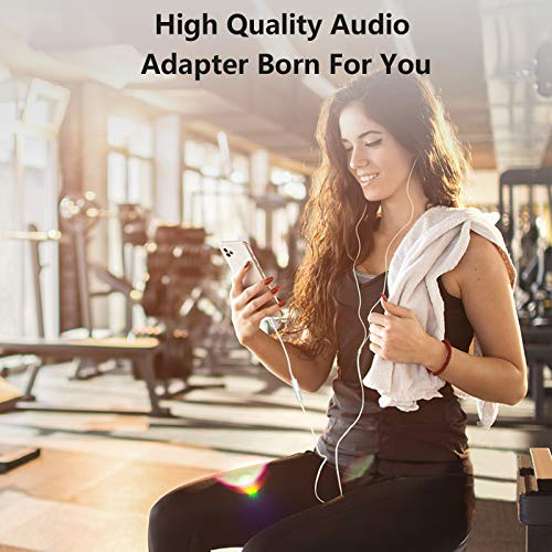 Mangotek Replacement for Lightning to 3.5 mm Headphone Jack Adapter iPhone Headphones Adapter Headphone Jack Earphone Audio Dongle Aux Adaptor for Apple iPhone 12 Pro Max 7 8 Plus 11 SE X XR XS