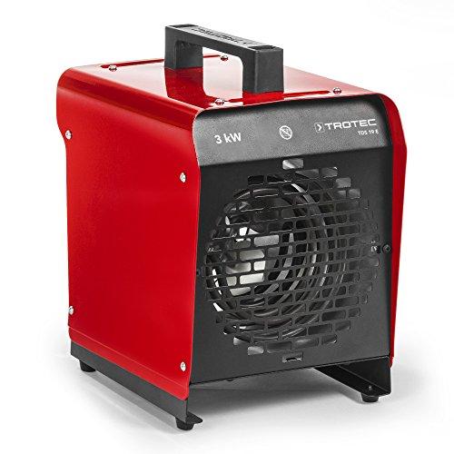TROTEC Elektroheizgebläse TDS 19 E Elektroheizer Bauheizer Heizlüfter (max. 3 kW), Thermostat, 2 Heizstufen, Ventilatorfunktion