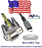 Micro USB B Connector to DB9 Female AV Data Cable, 1 M