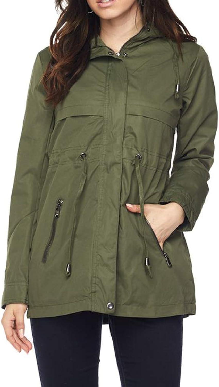 Cambridge Select Women's Lightweight Zip Drawstring Hooded Anorak Coat