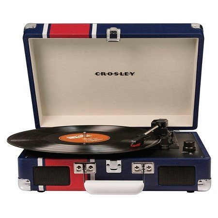 Crosley Radio Cruiser Record Player, Portable Turntable - Varsity Stripe