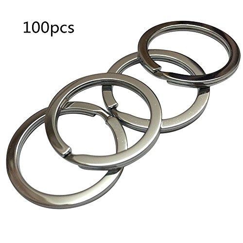Demarkt 100X Llavero de Acero Inoxidable Accesorios de Equipaje - Cadena Ideal para Artesanías