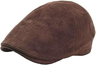 N25 Simple Suede Feel Soft IVY Cap Cabbie newsboy Beret Gatsby Flat Driving Hat