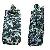 迷彩寝袋、コートタイプの寝袋、耐久性のある厚いオックスフォード布素材 精密ステッチ、コンパクトで軽量、持ち運びに便利