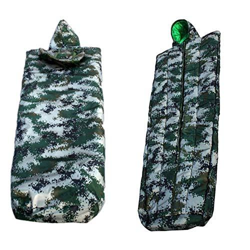 KJX Camouflage-Schlafsack, Mantel-Schlafsack, strapazierfähiges, Dickes Oxford-Stoffmaterial, hochwertige Präzisionsstiche, kompakt und leicht, leicht zu tragen
