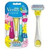Gillette Venus Tropical Women's Disposable Razor - Single Package of 3 Razors